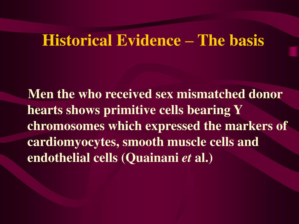 Historical Evidence – The basis