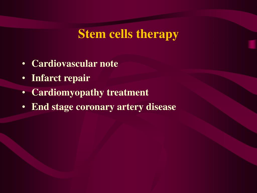 Stem cells therapy