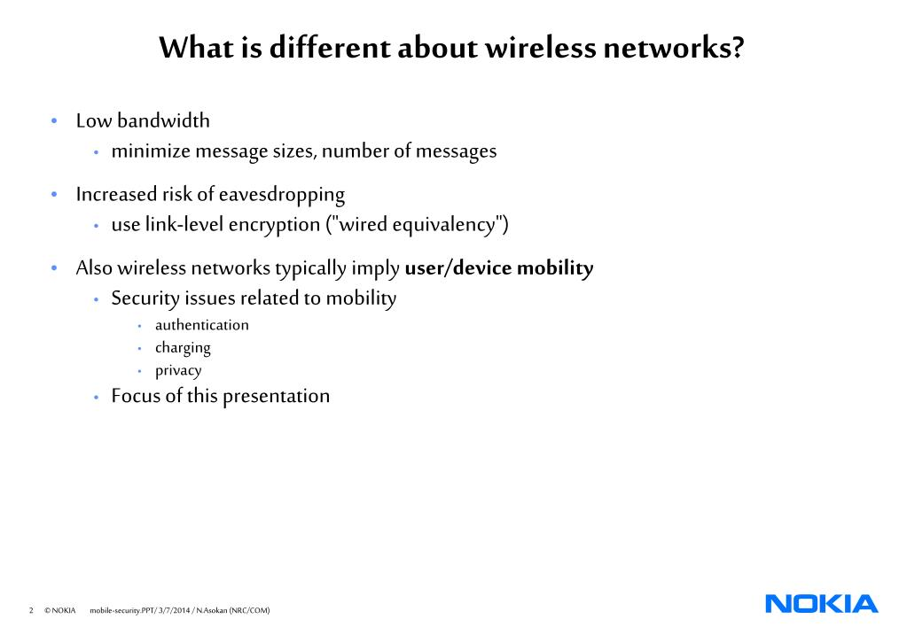 What is different about wireless networks?