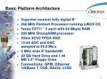 basic platform architecture