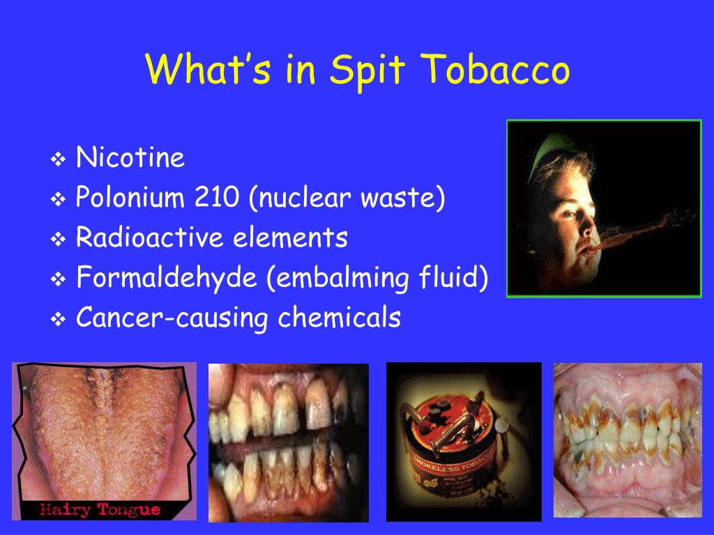 What's in Spit Tobacco