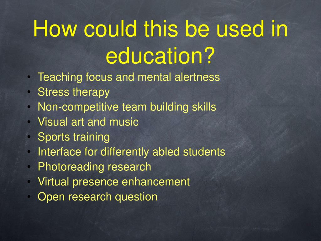 How could this be used in education?