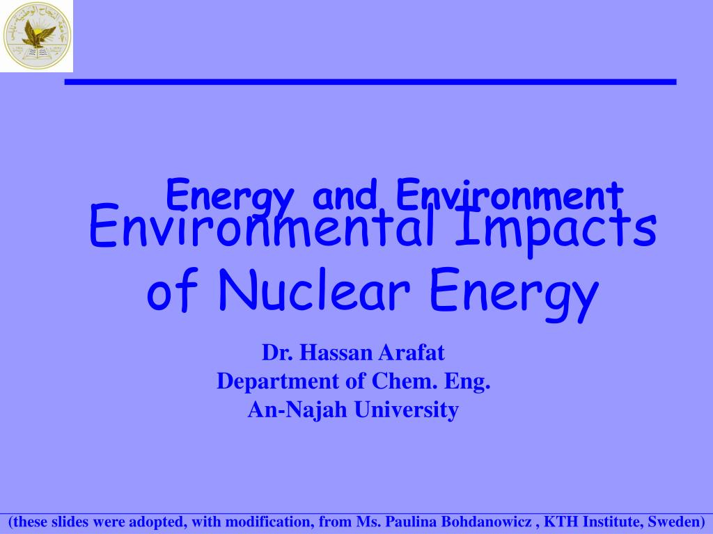 energy and environment l.