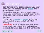 call waiting