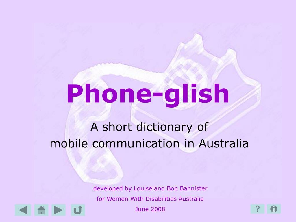 phone glish l.
