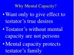 why mental capacity