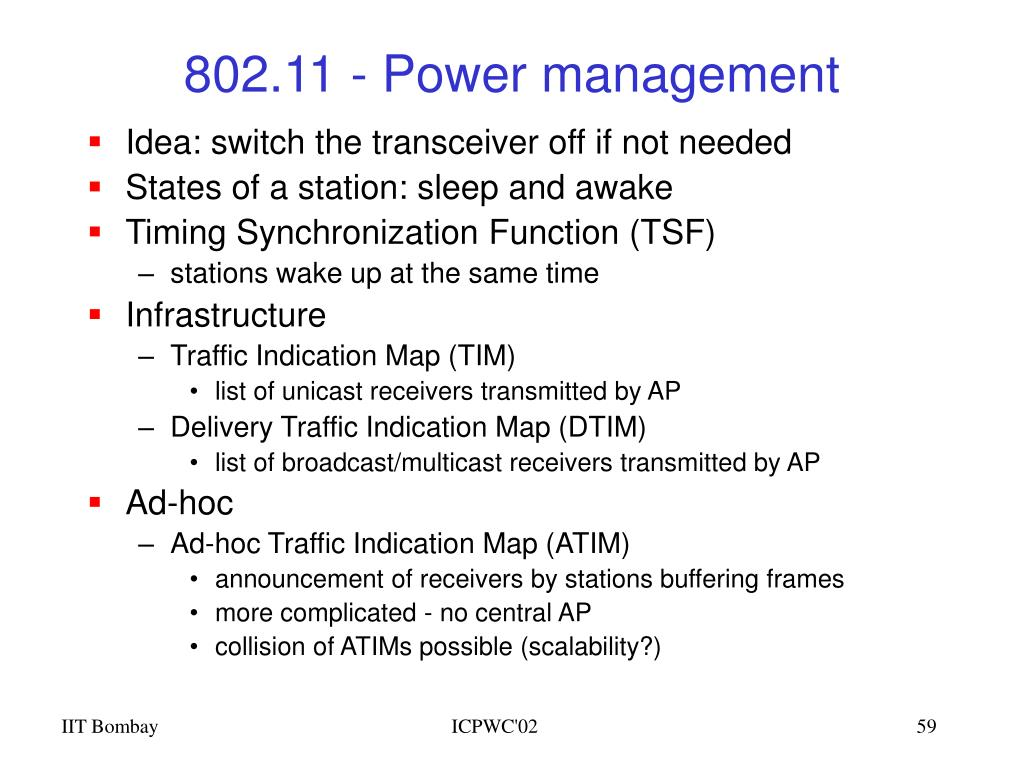 802.11 - Power management