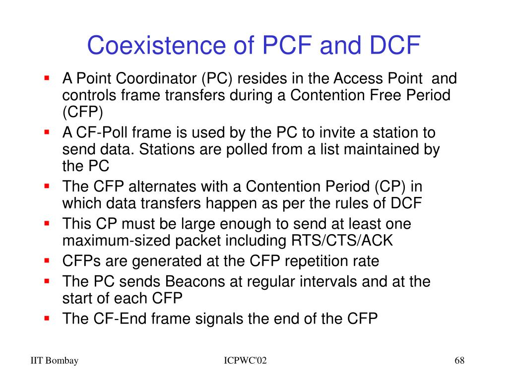 Coexistence of PCF and DCF