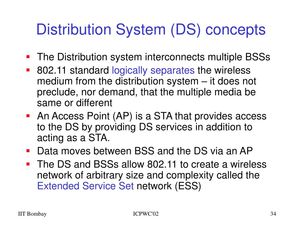 Distribution System (DS) concepts
