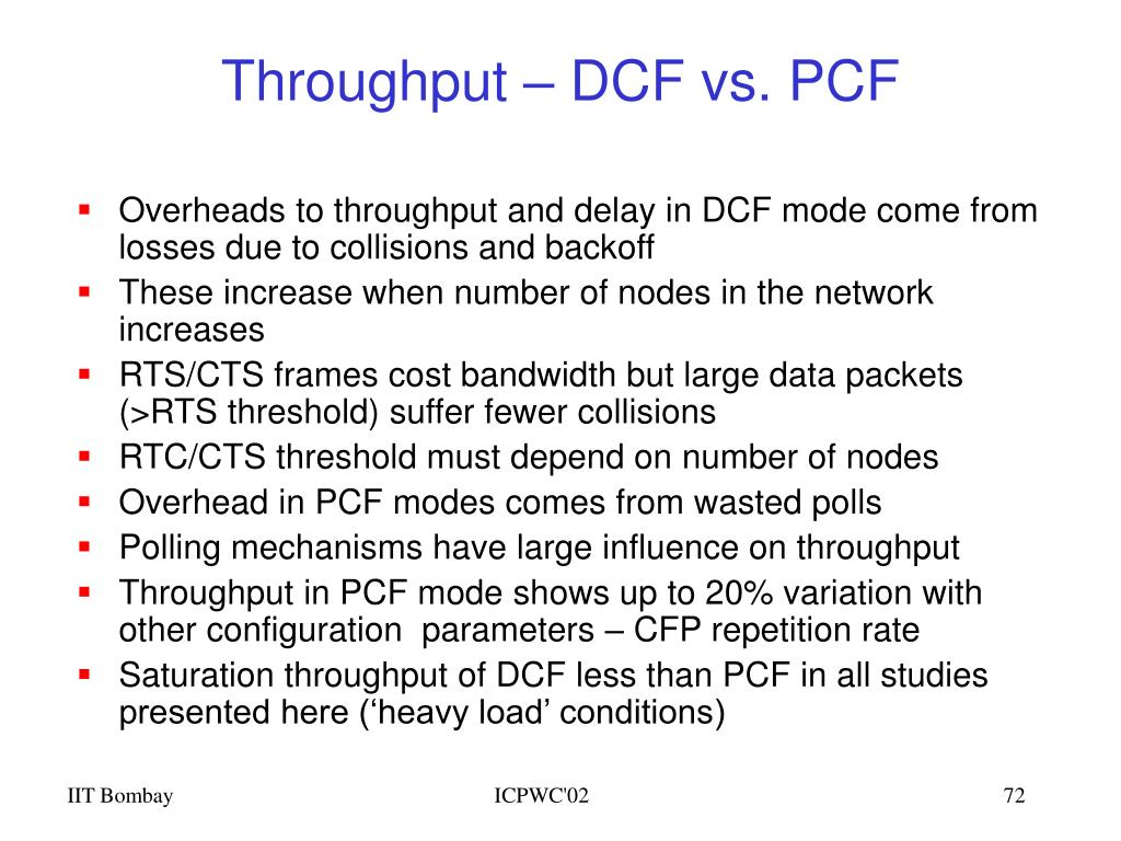 Throughput – DCF vs. PCF