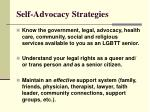 self advocacy strategies