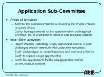 application sub committee
