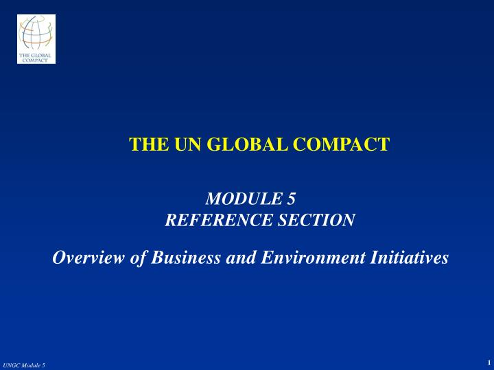 the un global compact n.