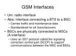 gsm interfaces