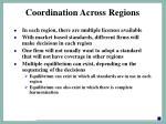 coordination across regions