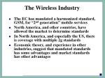 the wireless industry