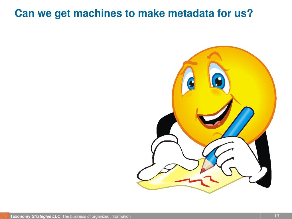Can we get machines to make metadata for us?
