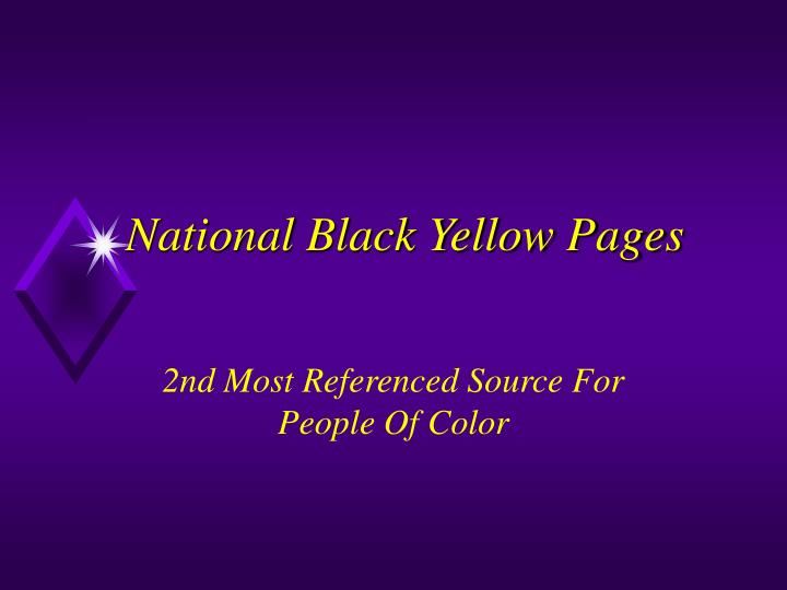 national black yellow pages n.