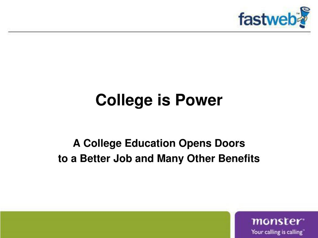 college is power l.