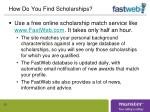 how do you find scholarships