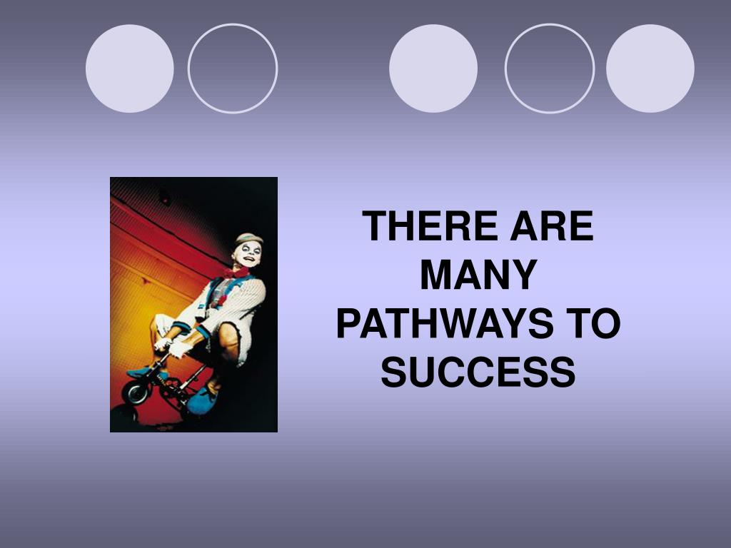 THERE ARE MANY PATHWAYS TO SUCCESS