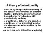 a theory of intentionality