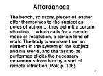 affordances