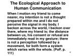 the ecological approach to human communication