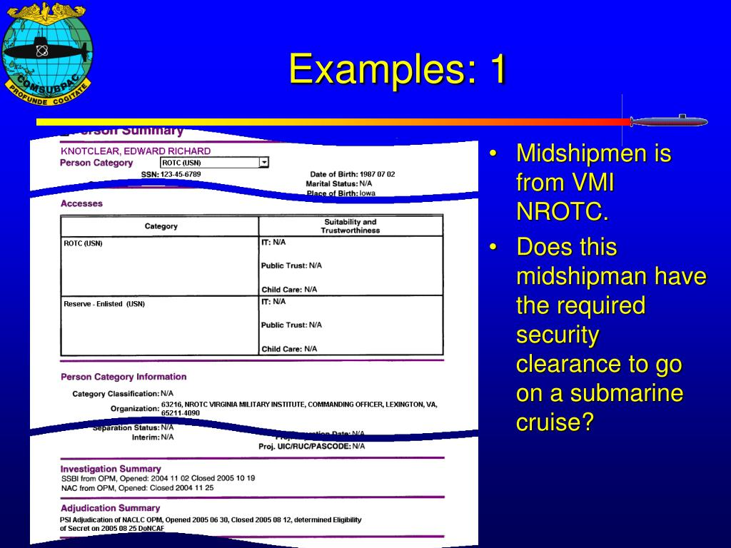 PPT - MIDN Security Clearances (Updated 5/14/08) PowerPoint