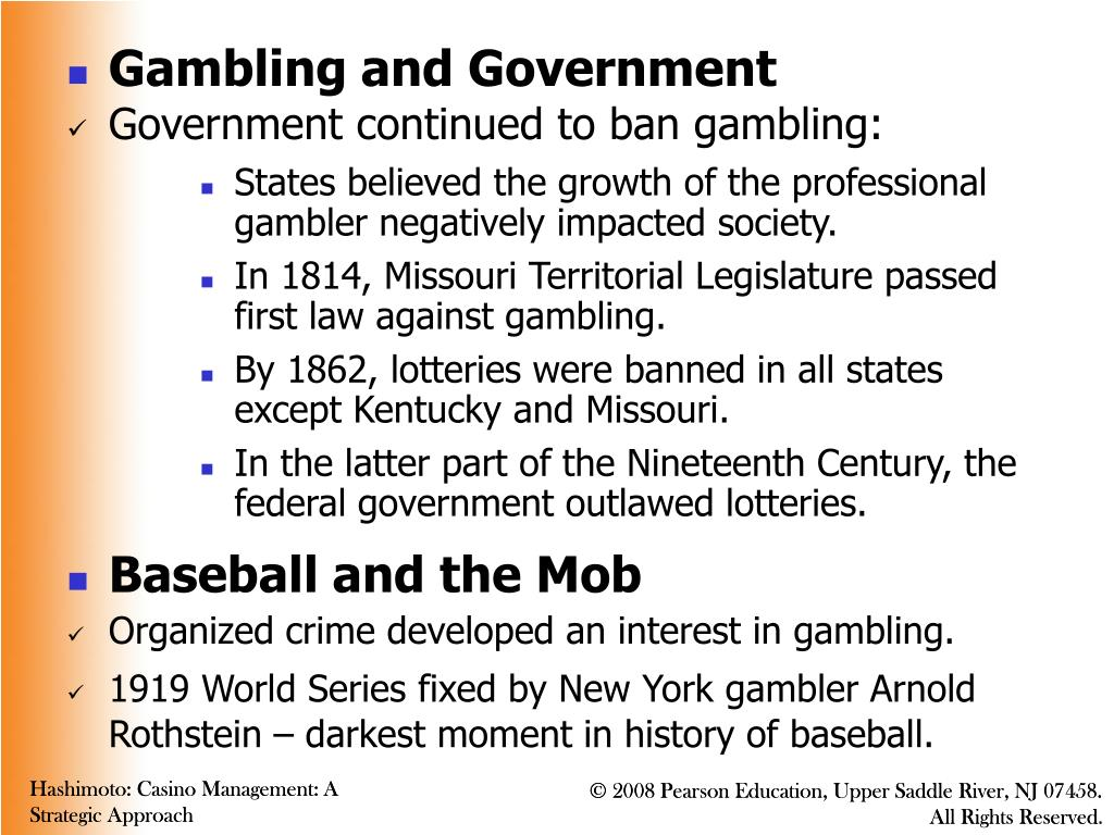 Gambling and Government