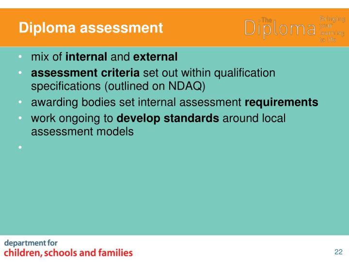 Diploma assessment