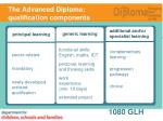 the advanced diploma qualification components