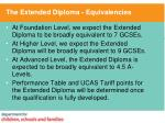 the extended diploma equivalencies