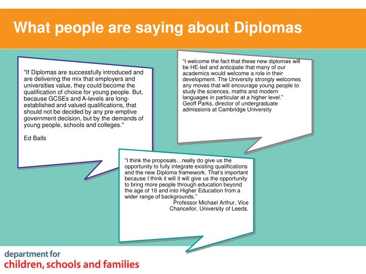 What people are saying about Diplomas