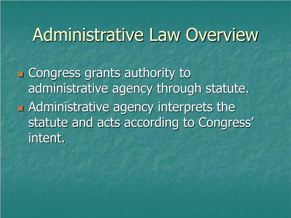 administrative law overview l.