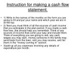 instruction for making a cash flow statement