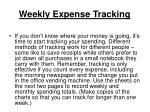 weekly expense tracking