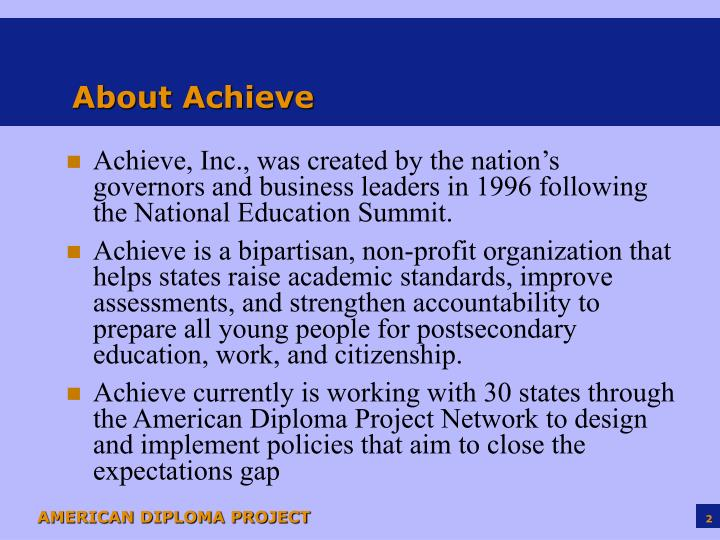 About achieve