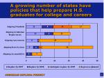 a growing number of states have policies that help prepare h s graduates for college and careers