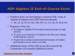 adp algebra ii end of course exam