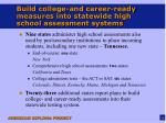 build college and career ready measures into statewide high school assessment systems