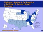 eighteen states dc require a college career ready diploma
