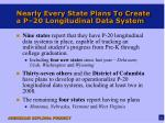 nearly every state plans to create a p 20 longitudinal data system