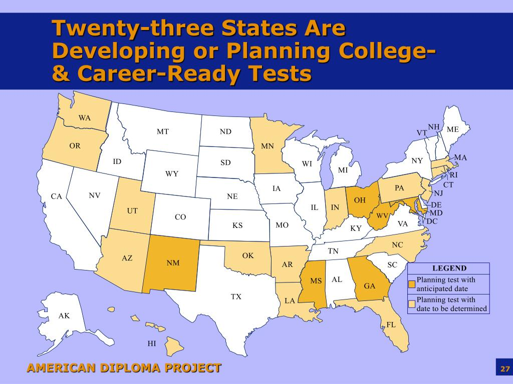 Twenty-three States Are Developing or Planning College- & Career-Ready Tests