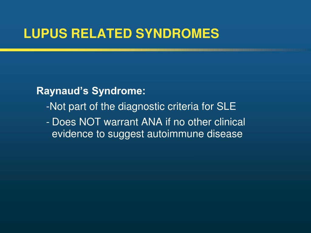 LUPUS RELATED SYNDROMES