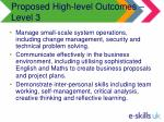 proposed high level outcomes level 320