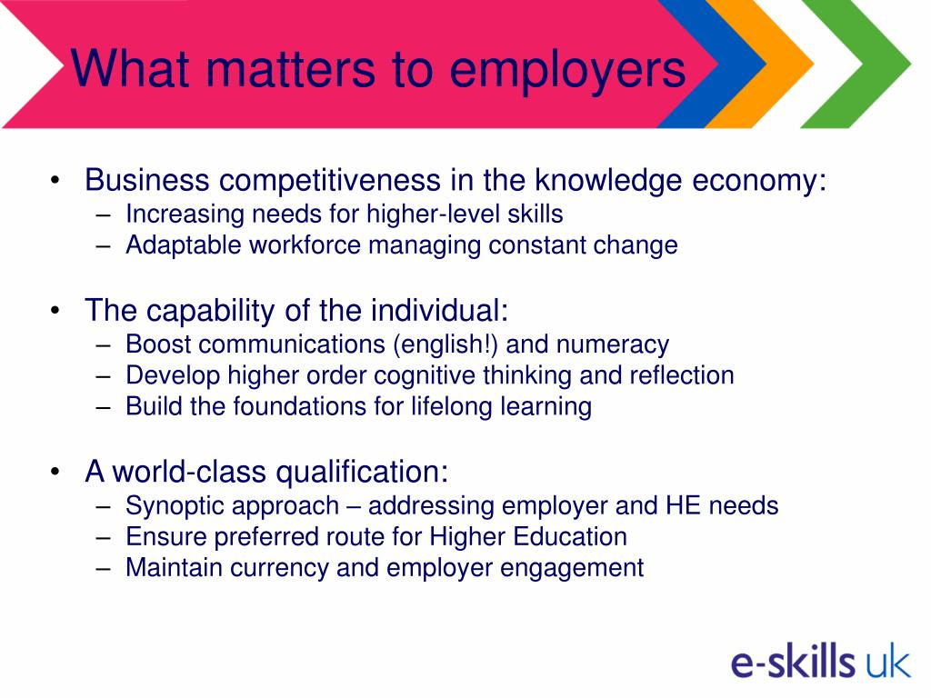 What matters to employers