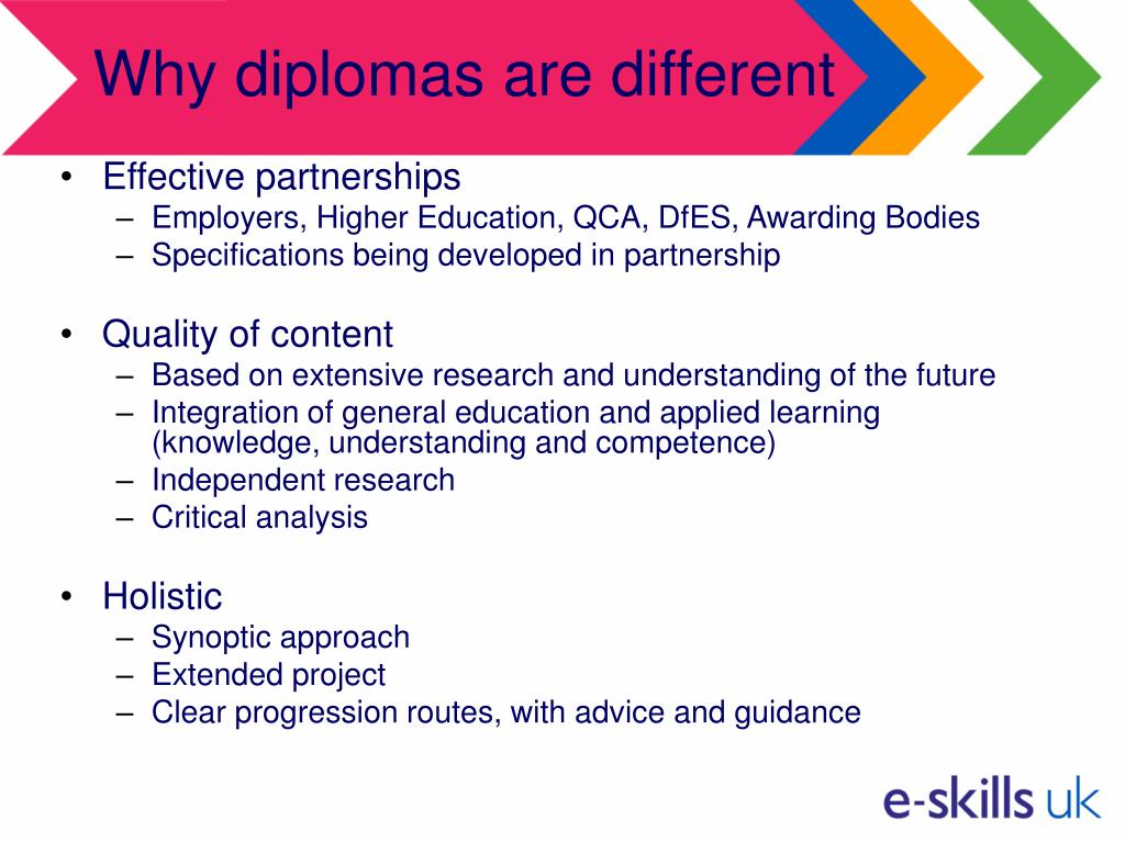 Why diplomas are different