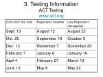 3 testing information act testing www act org