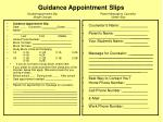 guidance appointment slips